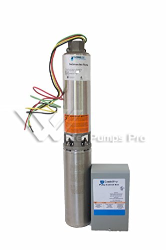 v well pumps parts part  goulds 25gs10412c 3 wire 1 hp 230v 4prime submersible water well pump motor and control box